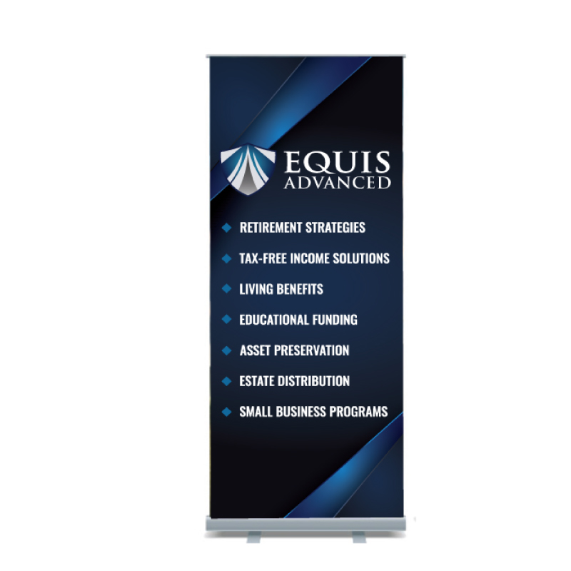 Equis Advanced Banner Stand 33x84