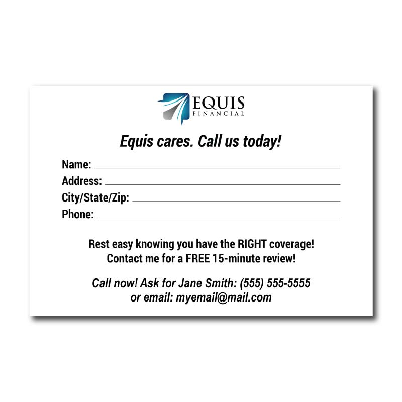 Equis Financial Referral Cards