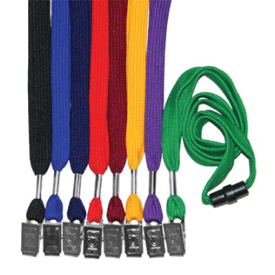 1/2 Tube Lanyard with Bulldog Clip & Breakaway
