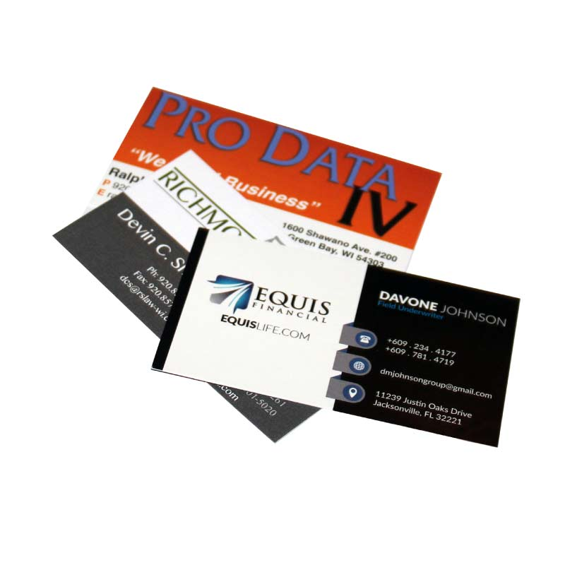 Custom business cards nvr branding green bay wi custom printed business cards reheart Choice Image